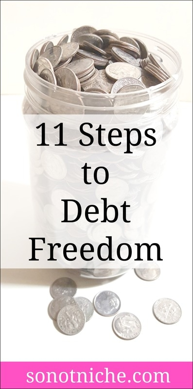 11 easy steps you can take to start paying off your debts.