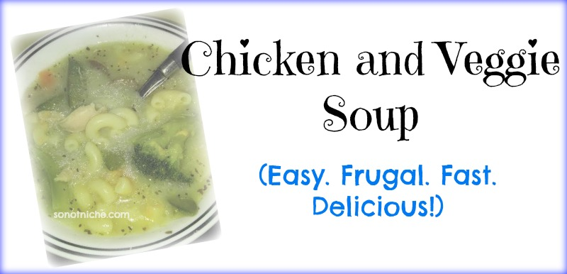 Chicken and Veggie soup with broccoli