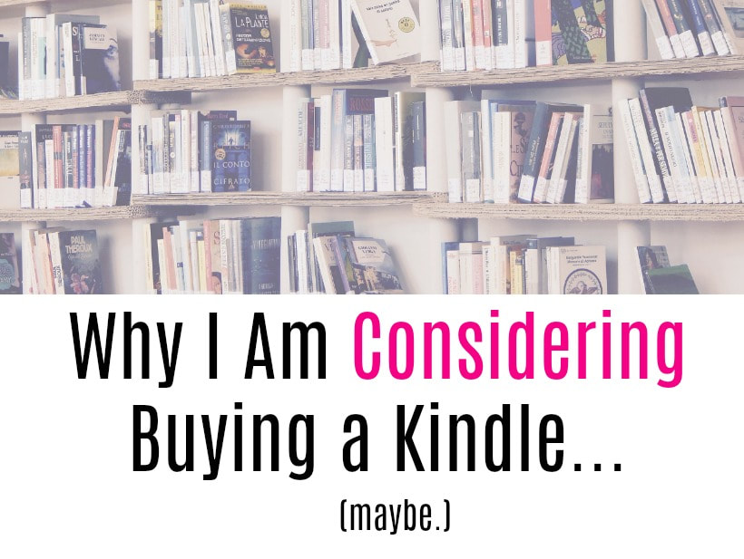 Maybe I should get a Kindle...