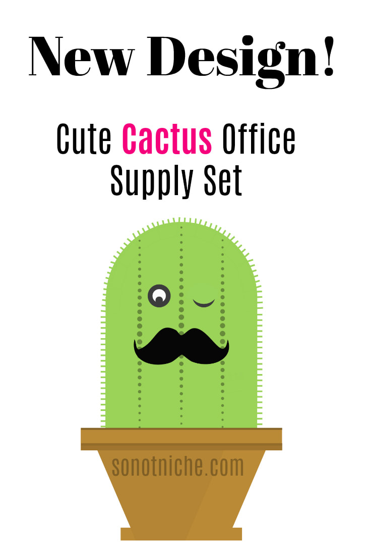 My latest Zazzle designs: Cactus pattern office supplies and cactus stationery .