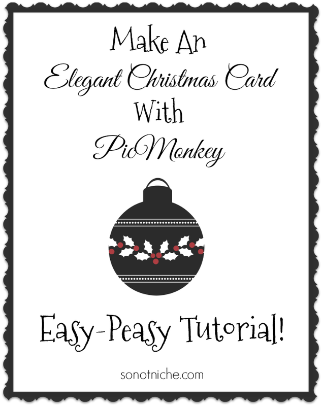 PicMonkey Tutorial--How to make a custom Christmas card. Easy!