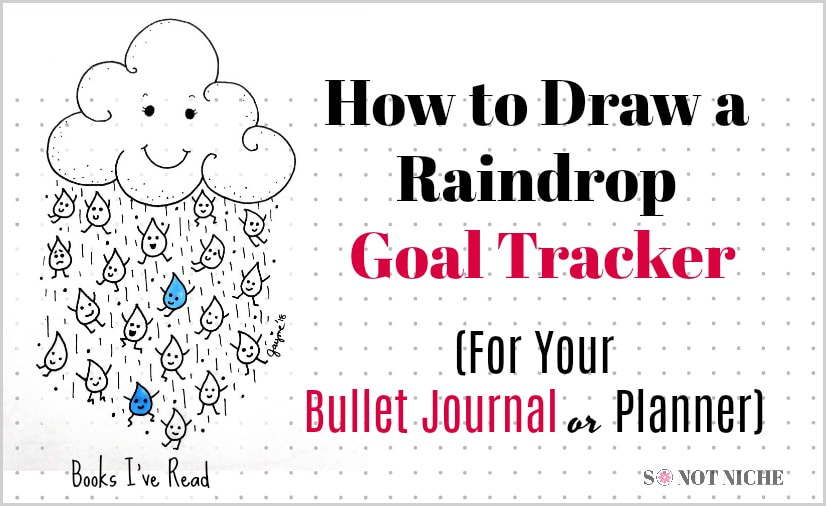Bullet journal ideas. How to draw a unique goal tracker.