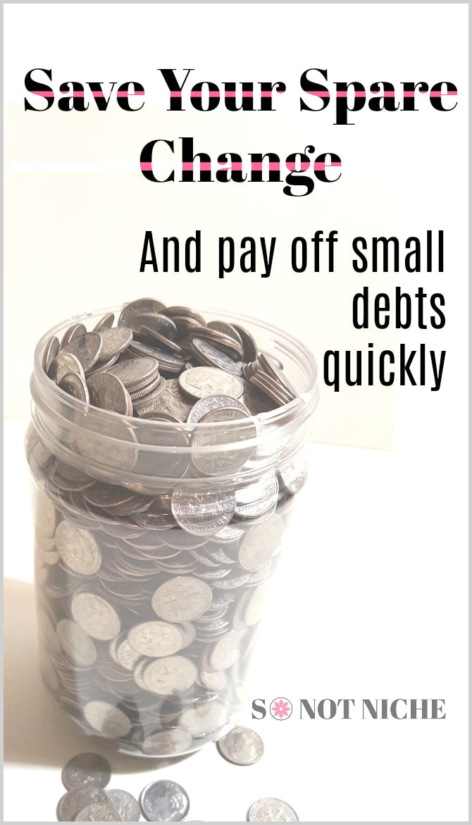 Pay of small debts fast and painfully with just your spare change. Every penny counts and you won't even feel like you're missing any money!