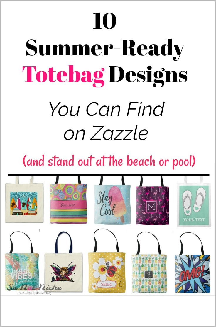 Unique summer tote bag designs from Zazzle artists.